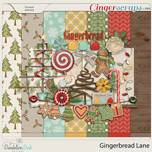 Gingerbread Lane Digital Scrapbook Collection by Dandelion Dust Designs