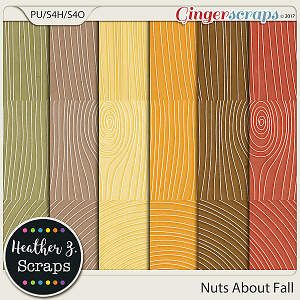 Nuts About Fall WOODGRAINS by Heather Z Scraps