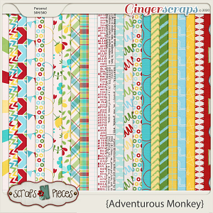 Adventurous Monkey Papers by Scraps N Pieces