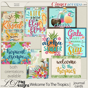Welcome To The Tropics: Journal Cards by LDragDesigns