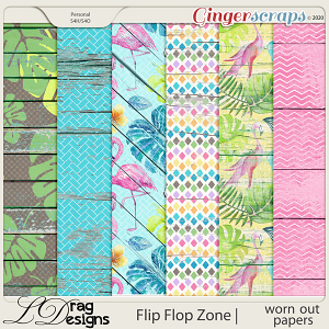 Flip Flop Zone: Worn Out Papers by LDragDesigns