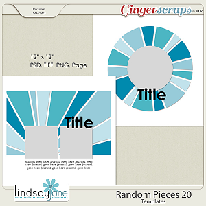 Random Pieces 20 Templates by Lindsay Jane