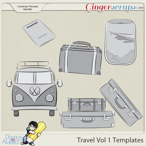 Doodles By Americo: Travel Vol 1 Templates