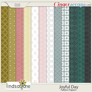Joyful Day Pattern Papers by Lindsay Jane