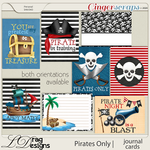 Pirates Only: Journal Cards by LDragDesigns
