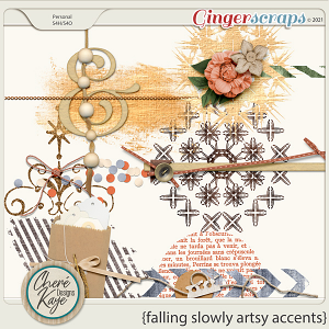 Falling Slowly Artsy Accents by Chere Kaye Designs