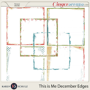 This is Me December Edgers by Snickerdoodle Designs