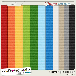 Playing Soccer Solid Paper Pack