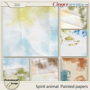 Spirit animal Painted papers