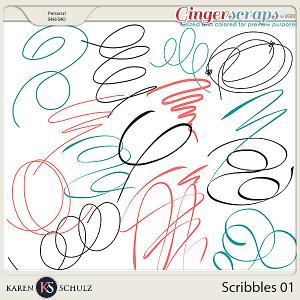 Scribbles 01 by Karen Schulz