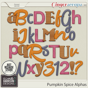 Pumpkin Spice Alpha Sets by Aimee Harrison and JB Studio