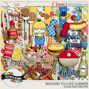 Reasons to Love Summer - Cook Out Mini Kit by Lisa Rosa Designs