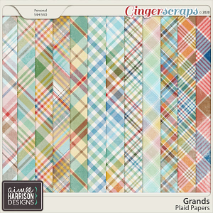 Grands Plaid Papers by Aimee Harrison
