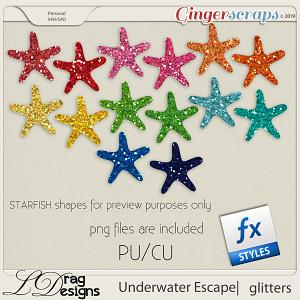 Underwater Escape: Glitterstyles by LDragDesigns