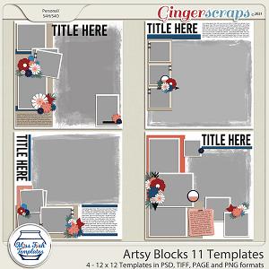 Artsy Blocks 11 Templates by Miss Fish