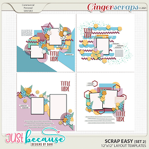Scrap Easy 2 Templates by JB Studio
