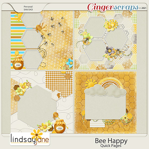 Bee Happy Quick Pages by Lindsay Jane