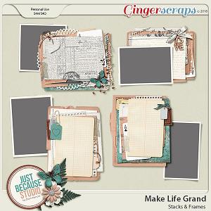 Make Life Grand Stacks and Frames Templates by JB Studio