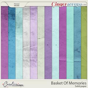 Basket Of Memories-Solid papers