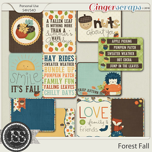 Forest Fall Pocket Scrap Cards