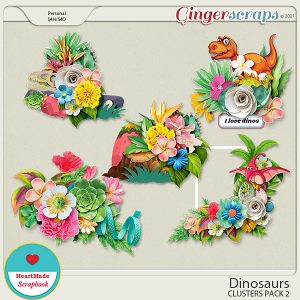 Dinosaurs - clusters pack 2