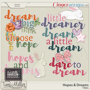 Hopes and Dreams Titles by Aimee Harrison and Tami Miller Designs