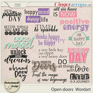Open doors Wordart