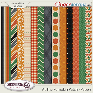 At The Pumpkin Patch - Papers by Aprilisa Designs