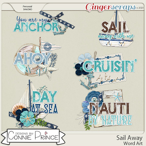 Sail Away - Word Art Pack by Connie Prince