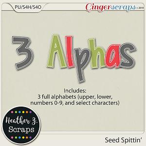 Seed Spittin' ALPHABETS by Heather Z Scraps
