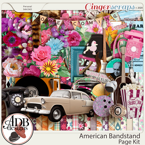 American Bandstand Page Kit by ADB Designs