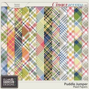 Puddle Jumper Plaid Papers by Aimee Harrison