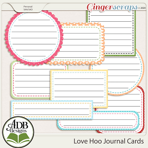 Love Hoo Journal Cards by ADB Designs