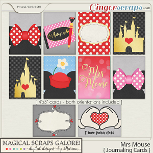 Mrs Mouse (journaling cards)