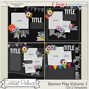 Banner Play Volume 3 - 12x12 Temps (CU Ok) by Connie Prince