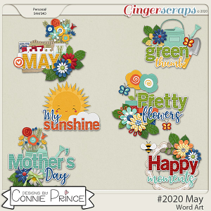 #2020 May - Word Art Pack by Connie Prince