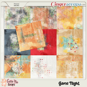 Game Night Painted Papers