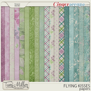 Flying Kisses Papers by Tami Miller Designs