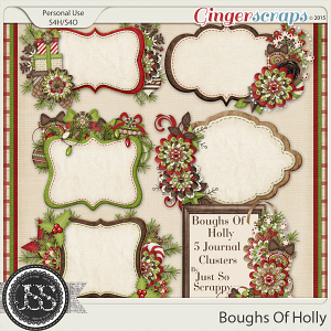 Boughs Of Holly Journal Cluster Cards