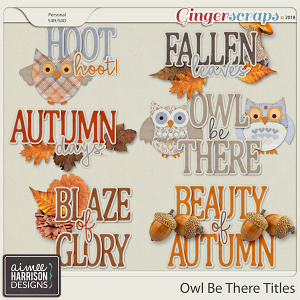 Owl Be There Titles by Aimee Harrison