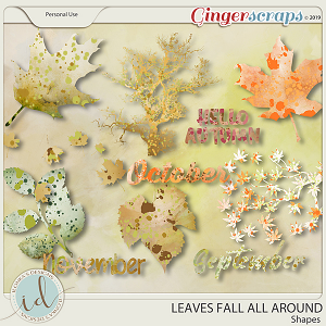 Leaves Fall All Around Shapes by Ilonka's Designs