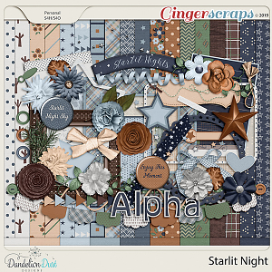 Starlit Night Digital Scrapbook Kit by Dandelion Dust Designs
