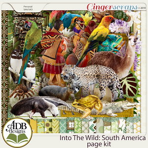Into The Wild South America Page Kit by ADB Designs