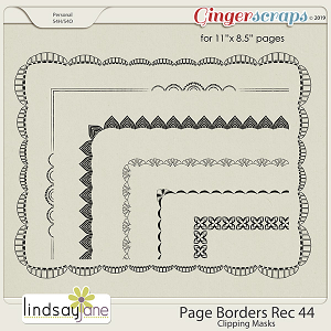 Page Borders Rec 44 by Lindsay Jane