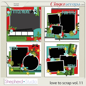 Love to Scrap Volume 11 Templates by Shepherd Studio