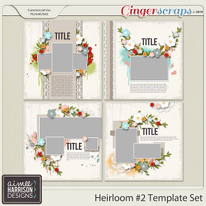 Heirloom #2 Templates by Aimee Harrison