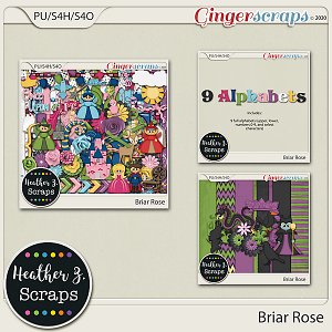 Briar Rose BUNDLE by Heather Z Scraps
