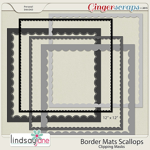 Border Mats Scallops by Lindsay Jane