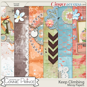 Keep Climbing - Messy Papers by Connie Prince