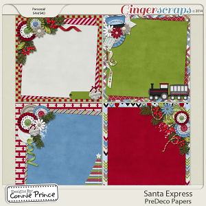 Santa Express - PreDeco Papers